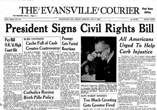 Image result for the civil rights act of 1964 signed by president lyndon johnson
